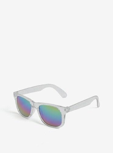 Dievčenské slnečné okuliare s trblietkami v striebornej farbe name it Sun 12a1557bf64