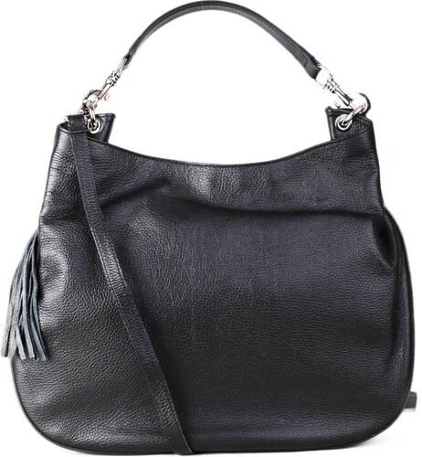 Talianske čierna kožené kabelky talianske cez plece Verdura - Glami.sk 268b1e901e1