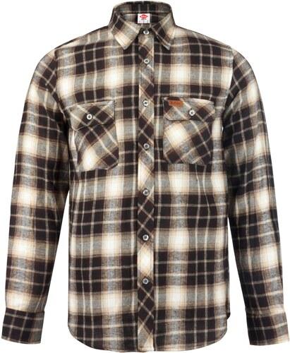 968c6db88beca Košile pánská Lee Cooper Slim Fit Check Brown/Beige - Glami.cz