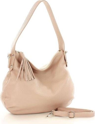 bőrből női táska   kényelmes fogantyúval FURRINI - Perla pasztell színű  bézs színű adbad3e916
