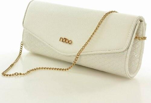 NOBO elegáns női táska formás női borítéktáska fehér - Glami.hu 32a9d0e3ec