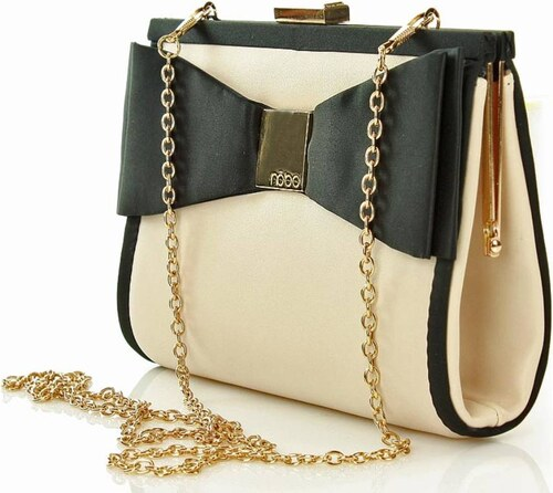 5c084e3fa3 NOBO nagyon nőies női táska női borítéktáska ' masnival bézs színű mat