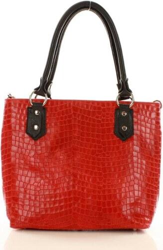női táska bőrből bevásárlótáska táska MAZZINI GIADA - piros - Glami.hu 83cfab1484