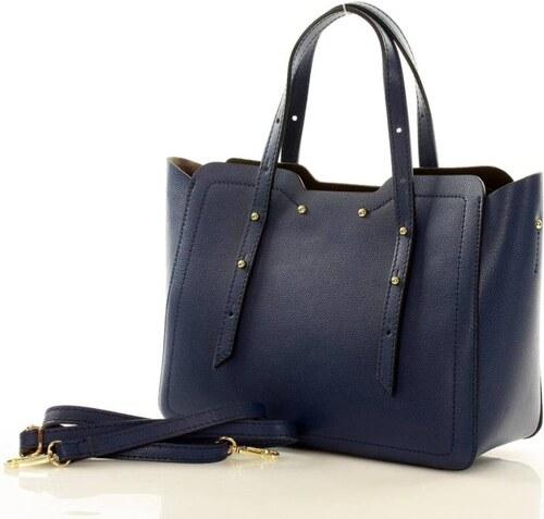 női táska olasz táska bőr MAZZINI LAURA - kék - Glami.hu fb989a79db