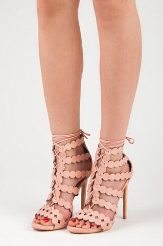 7cc8c4ad86012 SeaStar Ružové sandále s viazaním na opätku - Glami.sk