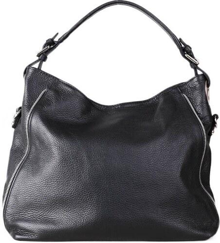 TALIANSKE Talianska kožená kabelka crossbody čierna Coleta d4d2fa5525c