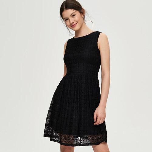 Sinsay - Krajkové šaty s výstrihom na chrbte - Čierna - Glami.sk db9d5149632