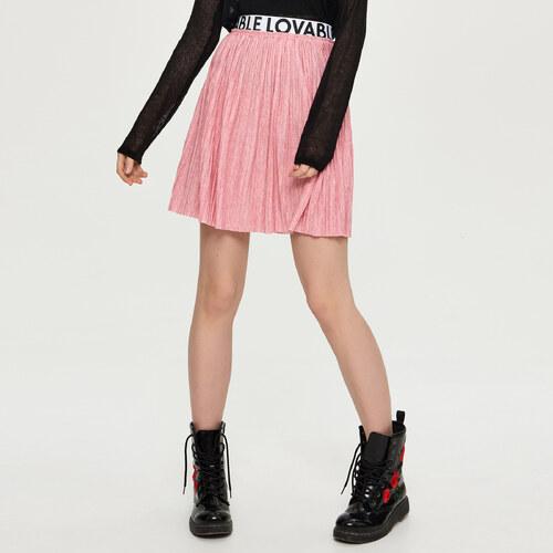 612685224f4 Sinsay - Lehká plisovaná sukně - Růžová - Glami.cz