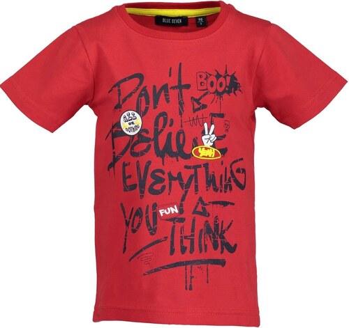 Blue Seven Chlapecké tričko s nápisem - červené - Glami.cz 15b37699a6