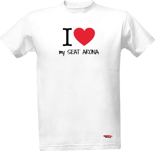 078d90f99a8 T-shock tričko s potiskem I love my SEAT Arona pánské - Glami.cz
