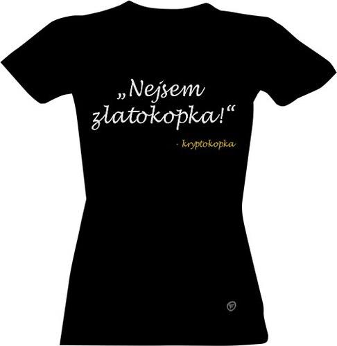 9922f5a8f6e T-shock tričko s potiskem Kryptokopka dámské - Glami.cz