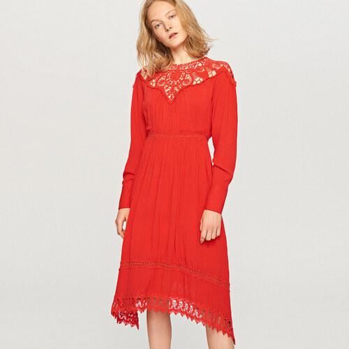 Reserved - Vörös midi ruha - Narancs - Glami.hu 5a223a929a