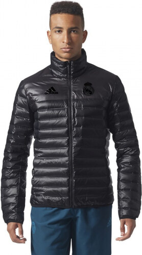 -50% Pánska bunda zimná adidas Performance REAL MADRID TV DOWN JK (Čierna) 32d5eebb8ac