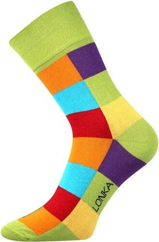 e080f9f5342 Lonka Zelené pánské ponožky s kostkami Decube - Glami.cz