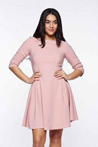 16a02eef16 Rózsaszínű StarShinerS elegáns harang ruha rugalmas anyag - Glami.hu