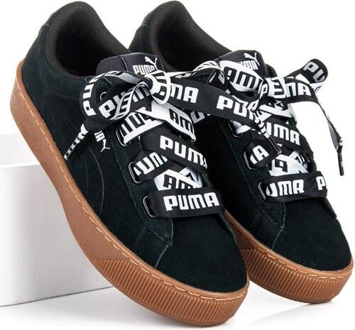 PUMA Originální černé kožené tenisky Puma - Glami.cz 1421e7a536