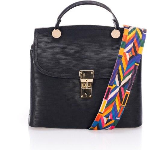 9c37376ecfb3 Čierna kožená kabelka Giorgio Costa Nicoletta - Glami.sk