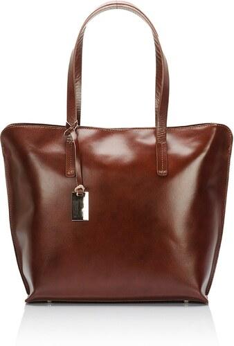Hnedá kožená kabelka Giorgio Costa Gerogina - Glami.sk 3fceb5e14c9
