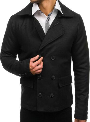 Čierny pánsky zimný kabát BOLF 3130 - Glami.sk dc0e6fcde59