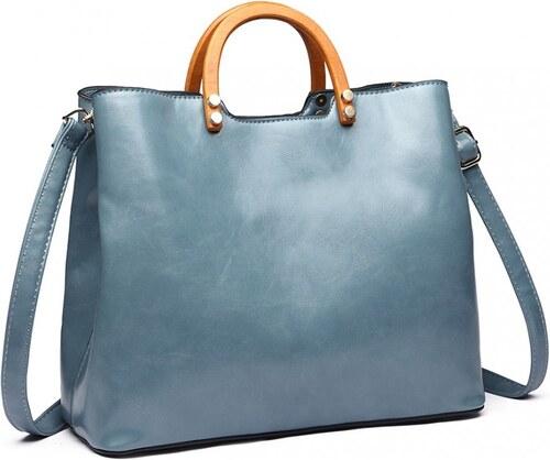 Modrá dámská luxusní kabelka do ruky Robie - Glami.sk 0e12e566273