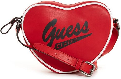 358396e06 Kabelka Guess Originals Heart Crossbody červená - Glami.cz