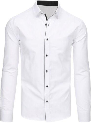 a64312afbba2 Krásna biela košeľa s ozdobným lemom - Glami.sk