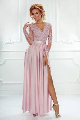 c61f04540af BELLA Elegantní šaty Leila růžové 36 - Glami.cz