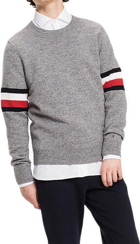 Tommy Hilfiger pánský šedý svetr 2dc2424e38