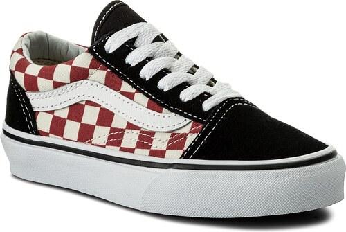 f4c7052c5e Tenisky VANS - Old Skool VN0A38HB35U (Checkerboard) Black Red - Glami.sk