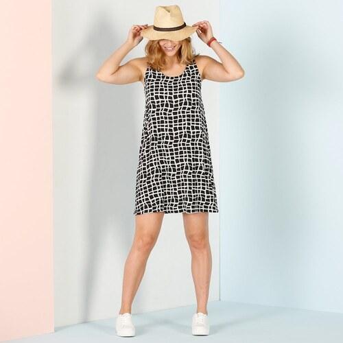 1792c1fb2627 Blancheporte Široké šaty s grafickým vzorom čierna biela - Glami.sk