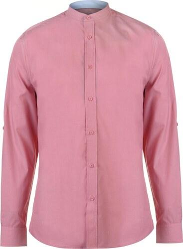 4f200f9e027a Pánska košeľa Pierre Cardin Mandarin Collar Long Sleeve Shirt Mens ...