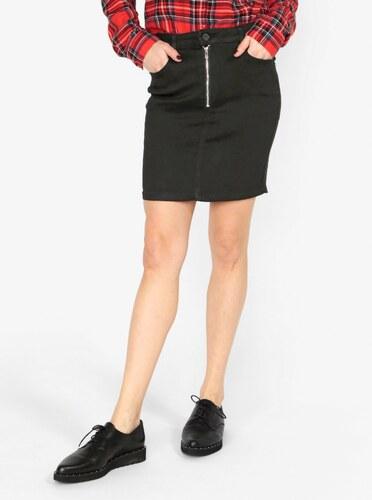 Černá džínová sukně se zipem MISSGUIDED - Glami.cz cfaf2e5133
