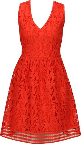 Červené krajkové šaty VERO MODA New Exclusive - Glami.cz 76c514e9d4