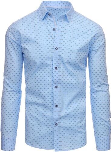 2e2c897d689 Dstreet Světle modrá pánská košile s nenápadným vzorem - Glami.cz