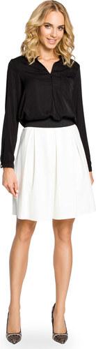 21a34da54c78 Biela áčková sukňa s pásom na širokú gumu MOE012 - Glami.sk