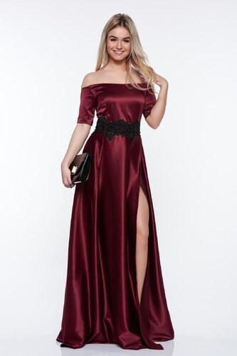 StarShinerS Alkalmi lila Artista ruha szatén anyagból hímzett betétekkel fdd87a73ec