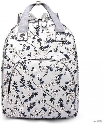 83933156e634 Miss Lulu London LG1658-16F - Miss Lulumattte Oilcloth több zseb táska  hátizsák táska Flower