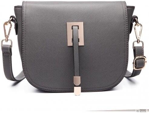 1f420b7f69 Miss Lulu London LT6631 - Miss Lulu szintetikus bőr Cross Body táska táska  szürke /kac