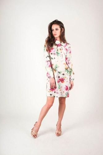 BUfashion Saténové šaty s kvetinovými vzormi - Glami.sk fbd91cb73e0