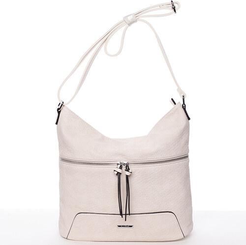 Trendy dámská crossbody kabelka krémově bílá - Silvia Rosa Abril bílá 65be8fc0022