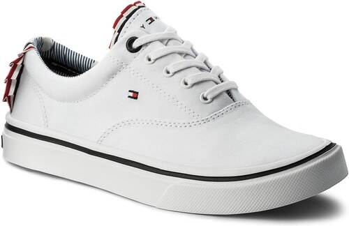 Tenisky TOMMY HILFIGER - Textile Light Weight Sneaker FW0FW02809 White 100 5dfa5513f6