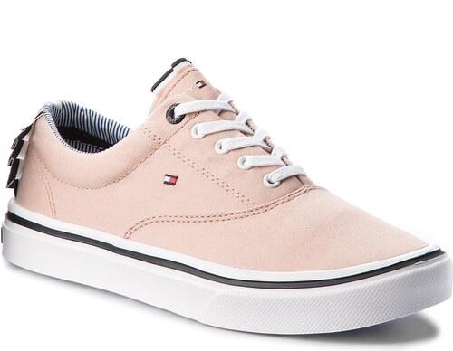 86016d71da Tenisky TOMMY HILFIGER - Textile Light Weight Sneaker FW0FW02809 Dusty Rose  502