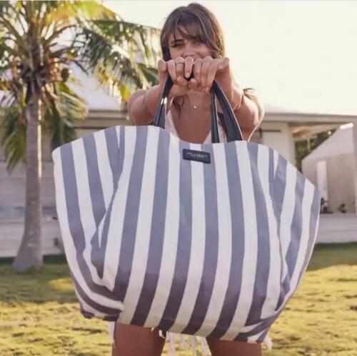 a38578a4e Victoria's Secret Victoria's Secret velká plátěná taška Canvas Stripped Tote