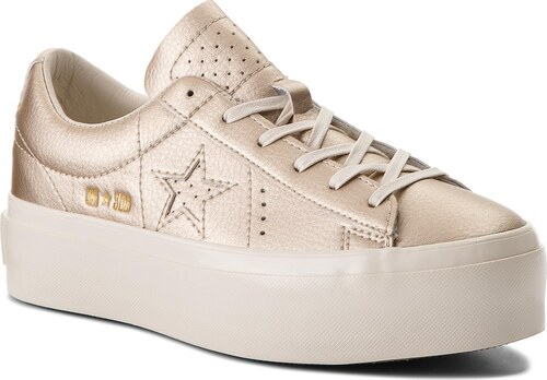 d337a9028e9d Sportcipő CONVERSE - One Star Platform Ox 559924C Light Gold/Light  Gold/Egret