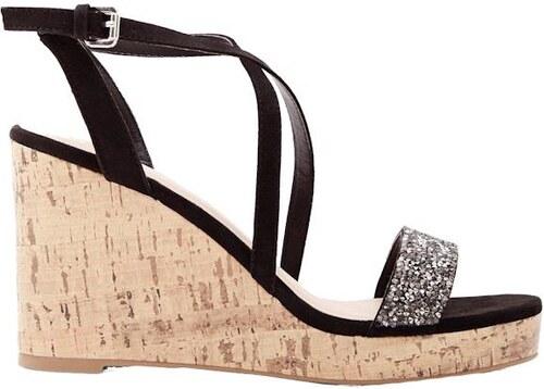 bba8311e42d4 NEW LOOK Sandále na klinovom podpätku s kamienkami - Glami.sk