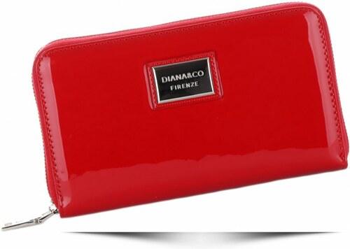 a7b5aabc700 Dámská peněženka XXL Diana Co Firenze lak červená - Glami.cz