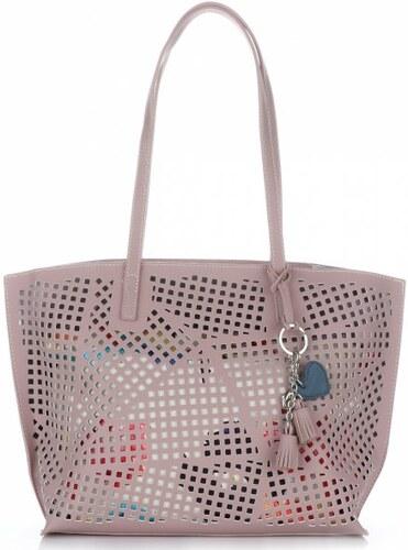 -15% Univerzální Dámské kabelky s kosmetikou David Jones ažurová Růžová 0d0cbf6691b