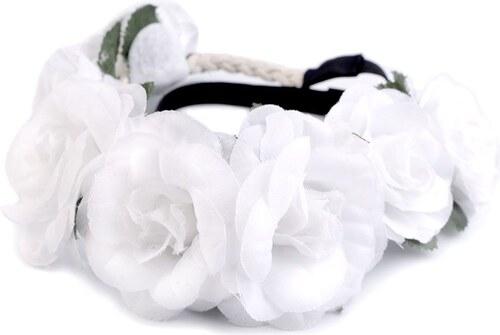 Cixi Květinová čelenka do vlasů Bílé růže - Glami.cz 79d1ec3ca0