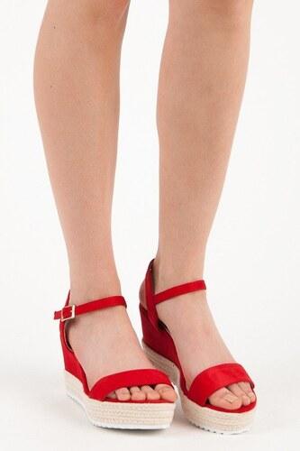 SeaStar Červené sandále espadrilky na kline - Glami.sk 69a057a9ac0
