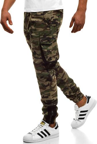 OZONEE Athletic 705 Pánské Kalhoty Jogger Zelené-Maskáčové - Glami.cz d5ee626286
